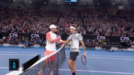 Link öffnet eine Lightbox. Video Federer lässt Mischa Zverev keine Chance abspielen