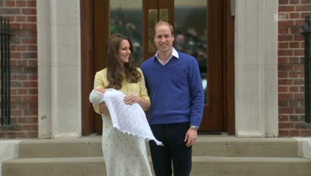 Video «Kate und William präsentieren das Baby» abspielen