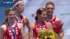 Video «Triathlon: EM in Genf, Mixed-Team-Bewerb» abspielen
