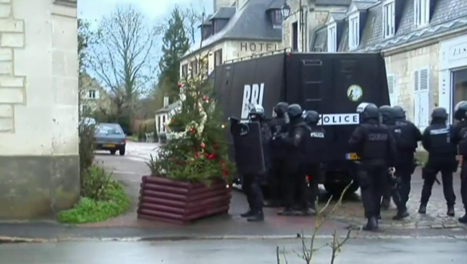Polizeieinsatz in Longpont