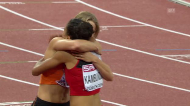 Video «Leichtathletik-EM: Der 200-m-Final der Frauen» abspielen