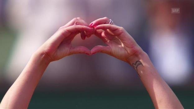 Video «Bacsinszky muss sich auf Liebesentzug einstellen» abspielen