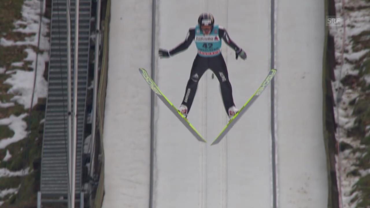 Skispringen: Weltcup in Engelberg, 2. Sprung von Deschwanden («sportlive», 22.12.2013)
