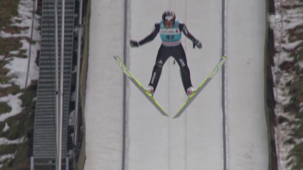 Video «Skispringen: Weltcup in Engelberg, 2. Sprung von Deschwanden («sportlive», 22.12.2013)» abspielen