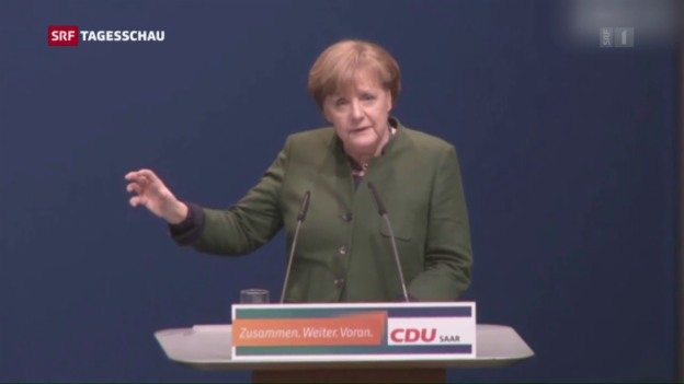 Video «Merkel lanicert Wahlkampf» abspielen