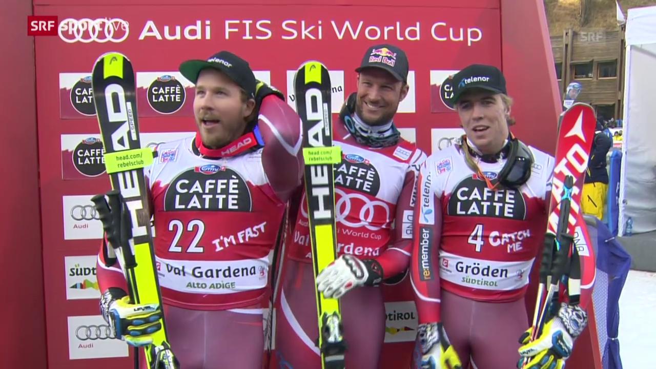 Ski alpin: Zusammenfassung Super-G Männer in Gröden