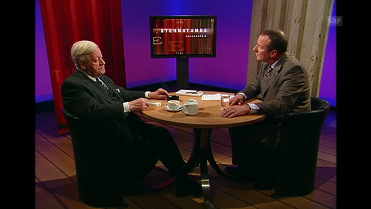 «Helmut Schmidt im Gespräch», Sternstunde Philosophie, 13.11.2005