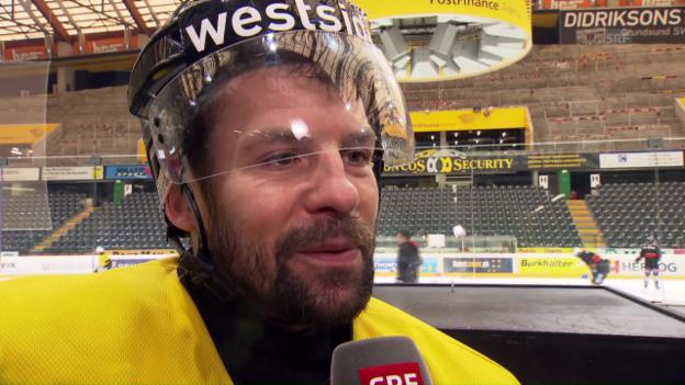 Video «SCB-Captain Martin Plüss über das 5. Finalspiel gegen Lugano» abspielen