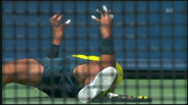 Video «Tennis: Nadal - Isner: Die wichtigsten Ballwechsel (unkommentiert)» abspielen