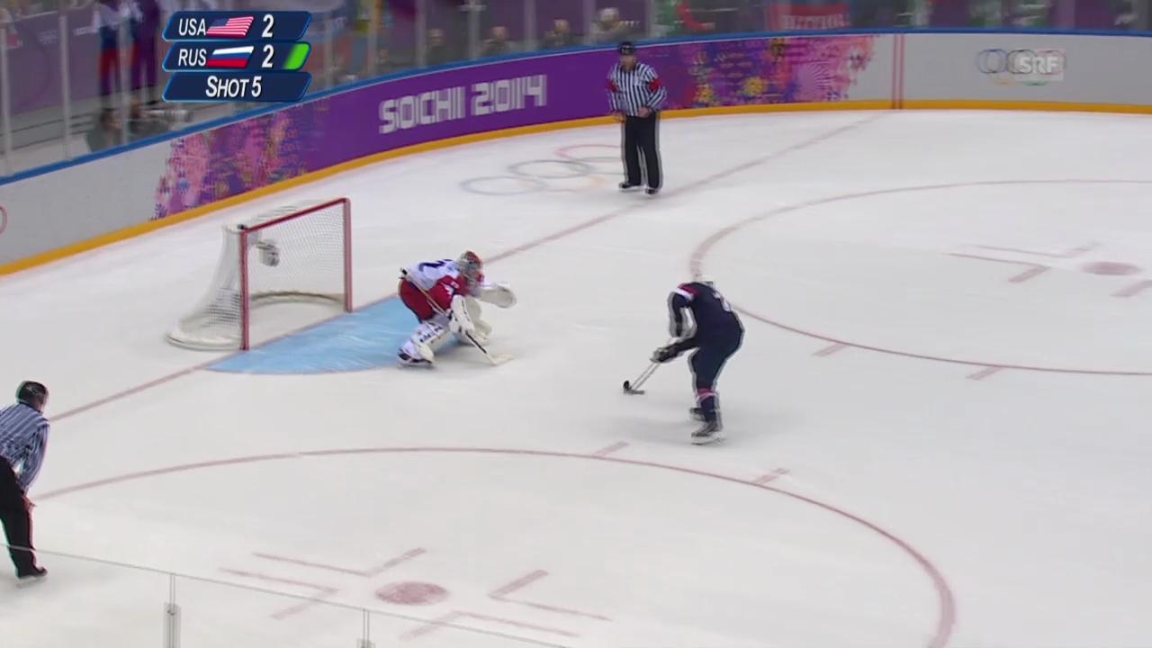Eishockey: Die Penalty-Show von T.J. Oshie (15.02.2014)