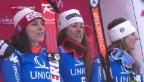 Video «Dreifach-Triumph für Italien bei der Damen-Abfahrt» abspielen