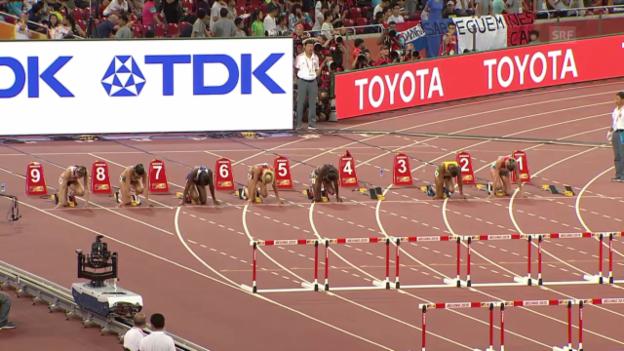 Video «Leichtathletik: WM in Peking, Zbären Halbfinallauf» abspielen
