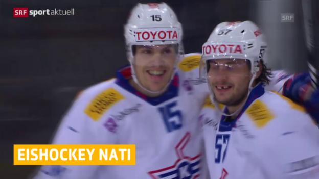 Video «Eishockey: Schweizer Nationalmannschaft» abspielen