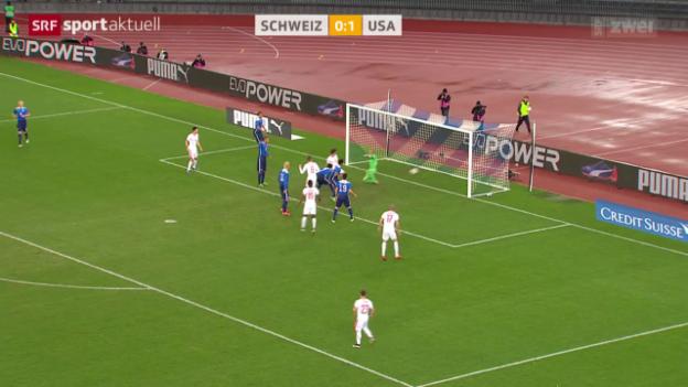 Video «Fussball: Testspiel Schweiz - USA» abspielen