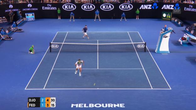 Video «Unglaublich: Federer mit Wahnsinns-Punkt» abspielen