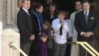 Video «Hollywood-Freunde nehmen Abschied von Philip Seymour Hoffman» abspielen