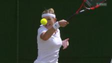 Video «Tennis: Wimbledon, Viertelfinal, Bacsinszky - Muguruza» abspielen