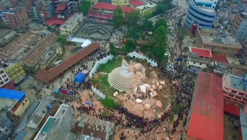 Kathmandu in Trümmern (ohne Ton)