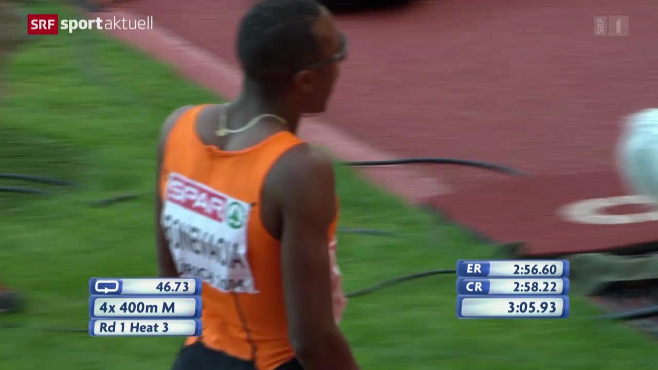 Leichtathletik-EM: Kurioses in der 4x400-m-Staffel