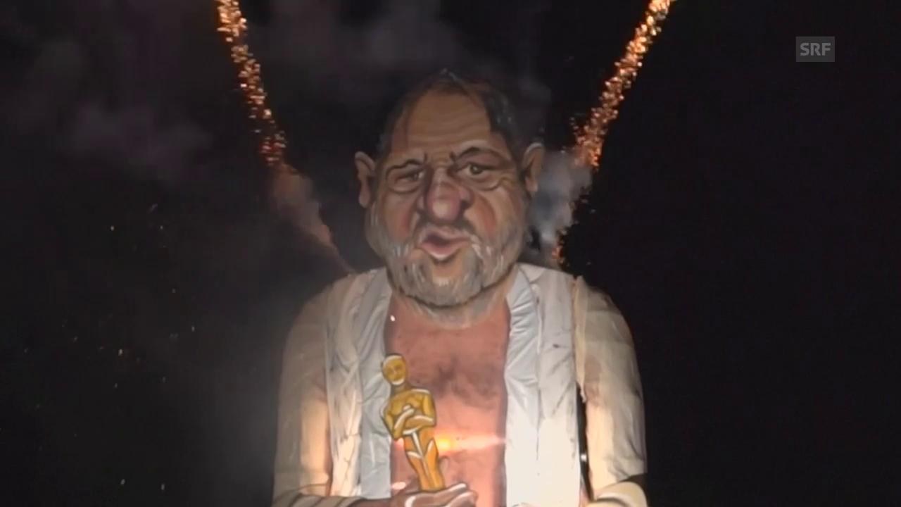 Engländer verbrennen Harvey Weinstein