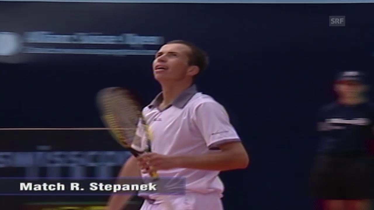Tennis: Zusammenfassung Federer - Stepanek («sportaktuell» vom 10.07.2002)