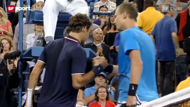 Federer scheitert in New York an Berdych