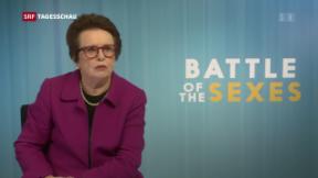 Video ««Kampf der Geschlechter» auf dem Tenniscourt» abspielen