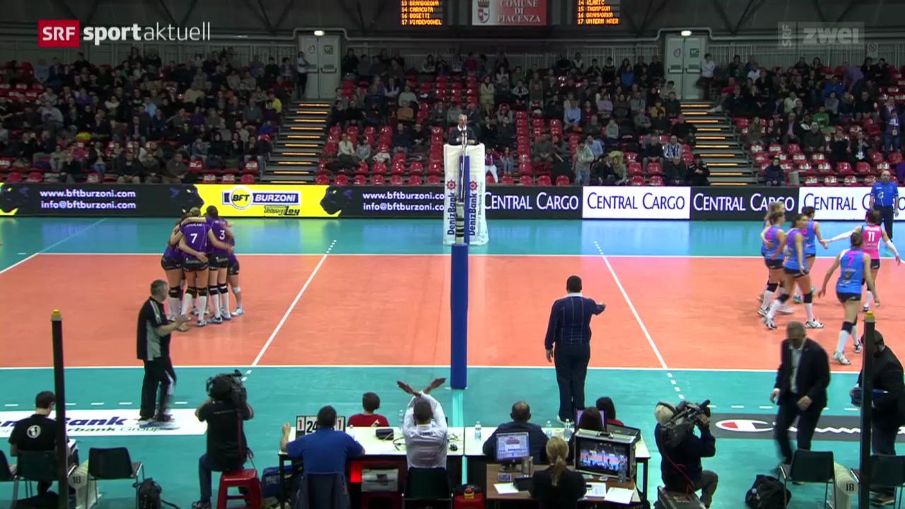 Volleyball: CL-Achtelfinal, Piacenza - Volero