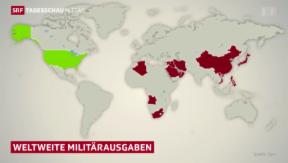 Video «Westen senkt Militärausgaben – Osten rüstet auf» abspielen