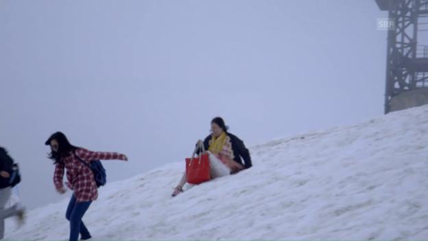Video «Chinesische Touristen auf dem Titlis» abspielen