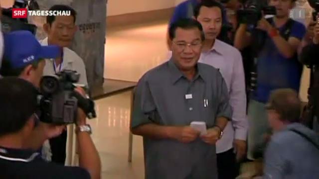 Wahlen in Kambodscha (Tagesschau vom 28.07.2013)