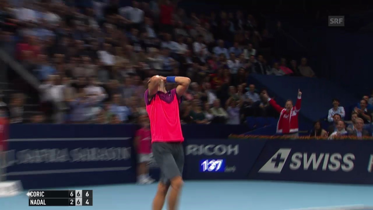 Tennis: Swiss Indoors, Nadal-Coric