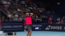 Video «Tennis: Swiss Indoors, Nadal-Coric» abspielen