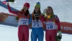 Video «Gold und Bronze für die Schweizer Abfahrerinnen» abspielen