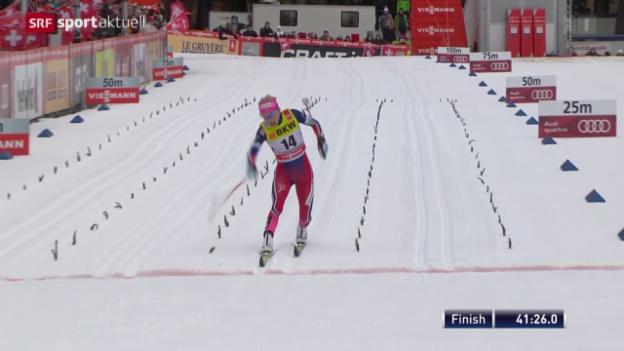Video «Langlauf: Tour de Ski, 15 km Frauen» abspielen