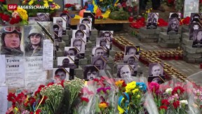 Video «Ukraine gedenkt der Toten vom Maidan » abspielen