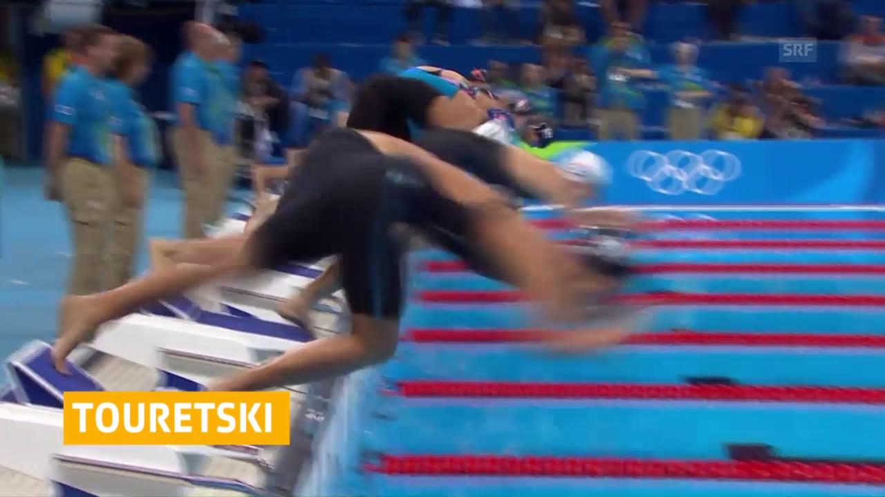 Touretski bleibt über 50 m Crawl auf der Strecke