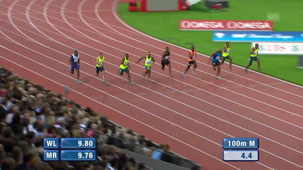 Leichtathletik: Weltklasse Zürich, 100 m Männer