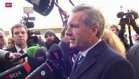 Video «Wulff bestreitet Vorwürfe vor Gericht » abspielen