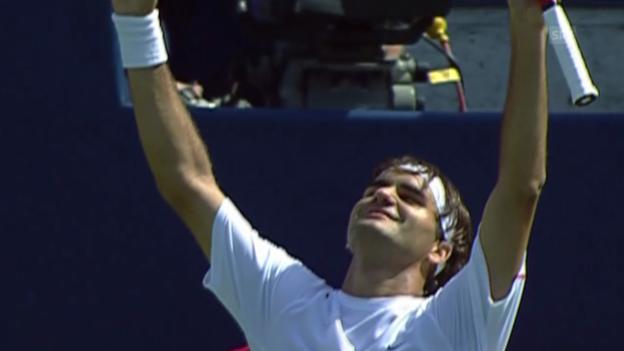 Video «Tennis: Roger Federer und Stan Wawrinka am Rogers Cup» abspielen