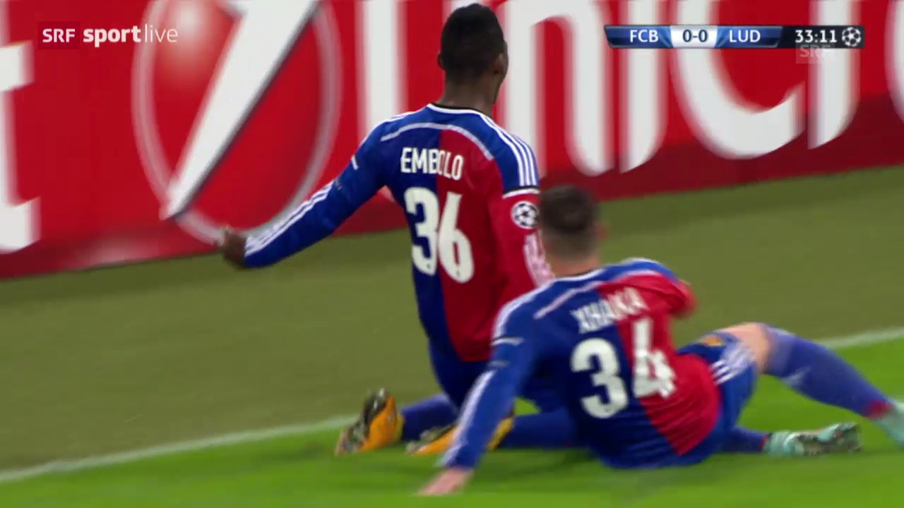 Fussball: CL, Highlights Basel - Rasgrad