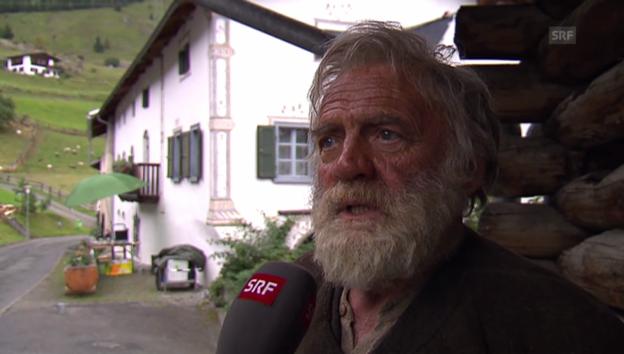 Video «Bruno Ganz über seine Rolle als Alpöhi» abspielen