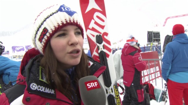 Video «Ski alpin: Tina Weirather über die WM-Abfahrtsstrecke «Raptor»» abspielen