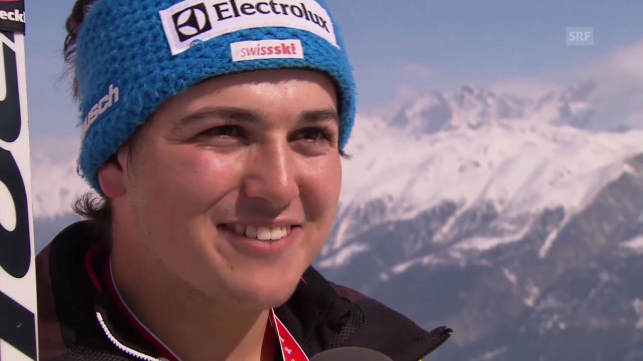 Ski: Schweizermeisterschaften auf der Fiescheralp, Abfahrt der Männer (20.03.2014)