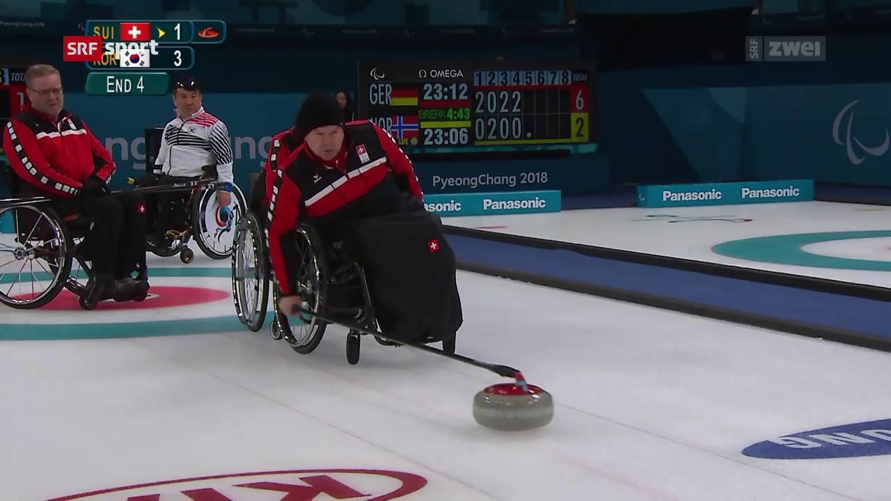 Curling: Sieg und Niederlage für die Schweiz