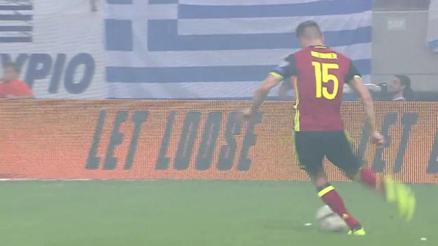 Video «Zusammenfassung Griechenland - Belgien» abspielen