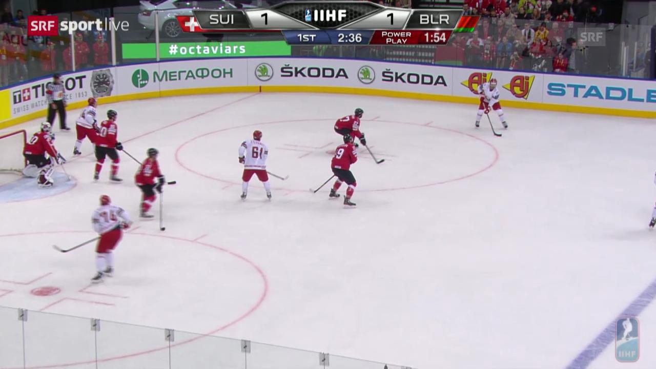 Eishockey: Zusammenfassung Schweiz - Weissrussland
