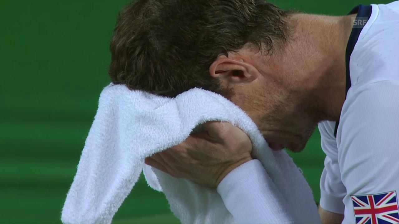 Murray und auch Del Potro weinen nach dem Spiel