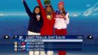 Video «Snowboard: Siegerehrung Kummer» abspielen