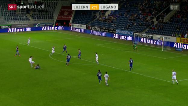 Video «Fussball: Luzern - Lugano» abspielen